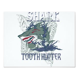 SHARK TOOH HUNTER 11 CM X 14 CM INVITATION CARD