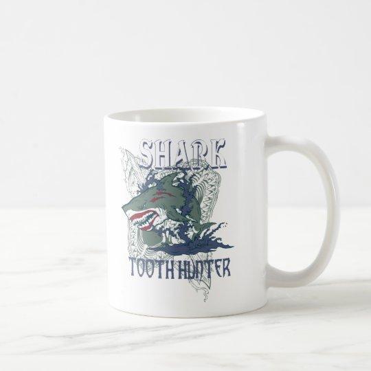 SHARK TOOH HUNTER COFFEE MUG