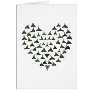 Shark Tooth Heart Notecard