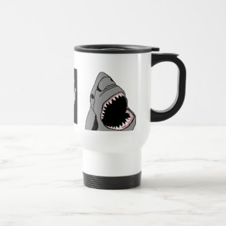 Shark travel mug