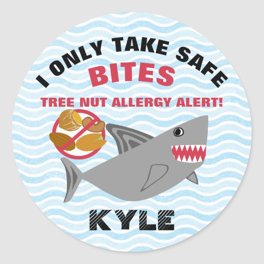Shark Tree Nut Allergy Alert Stickers