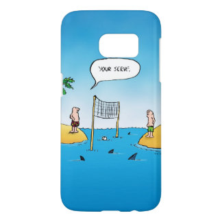 Shark Volleyball Funny Cartoon