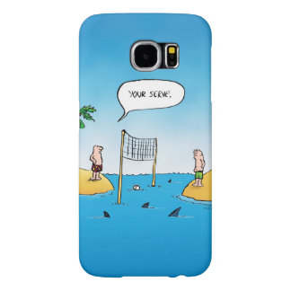 Shark Volleyball Funny Cartoon Samsung Galaxy S6 Cases