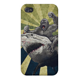 Shark vs Gorilla iPhone 4/4S Cover