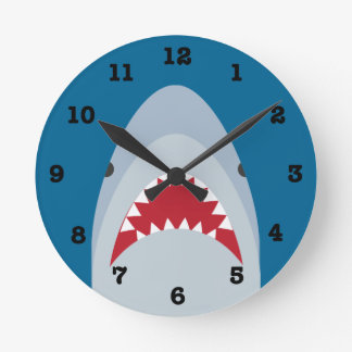 Shark Wall Clock (with numbers)