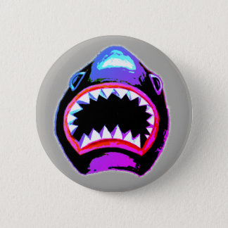 Shark Watercolor Illustration 6 Cm Round Badge