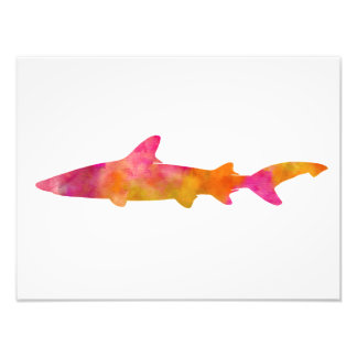Shark Watercolor Silhouette Pink Yellow Sharks Photo Print