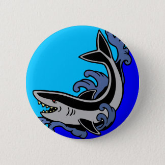 Shark Waves 6 Cm Round Badge