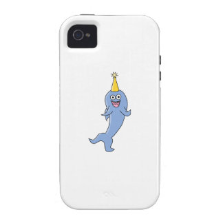 Shark wearing a Party Hat. iPhone 4 Covers