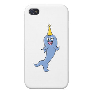 Shark wearing a Party Hat. iPhone 4 Case