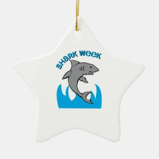 Shark Week Ceramic Star Decoration