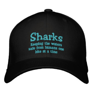 Shark Week Hat Embroidered Cap