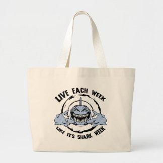 Shark Week Large Tote Bag