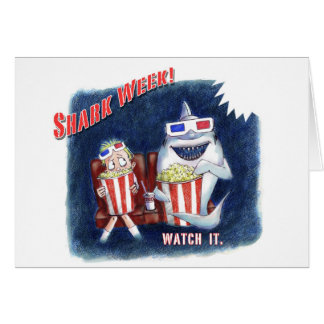 Shark Week postcard Note Card