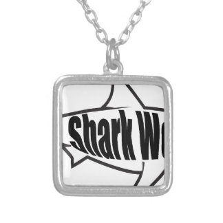 Shark Week Square Pendant Necklace