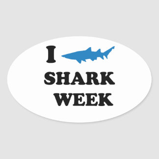 Shark Week Oval Sticker