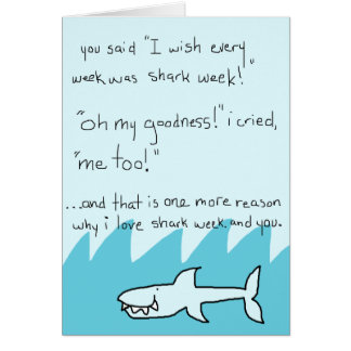 Shark Week Valentine Card