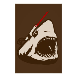 Shark with a Frickin' Laser Beam Poster