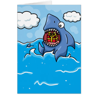 Shark with Present Card