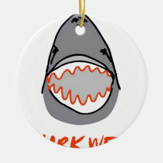 Sharkbite for Shark Week August 10-17 2014 in Grey Round Ceramic Decoration