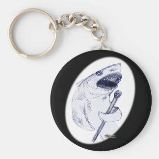 Sharkey Finatra Basic Round Button Key Ring