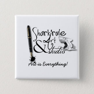 Shark'rule Art & Studio Round Button