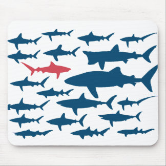 Sharks against the tide mouse pad. mouse mat