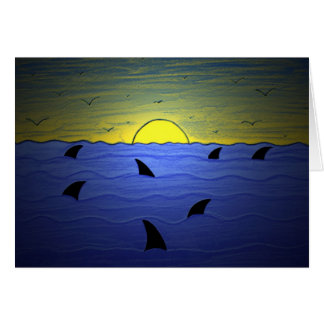 Sharks at Sunset Card