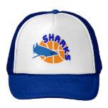 Sharks Basketball Cap Trucker Hat