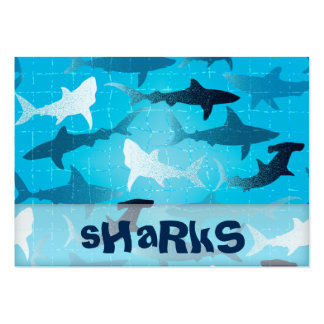 sharks pack of chubby business cards