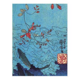 Sharks by Utagawa Kuniyoshi Postcard