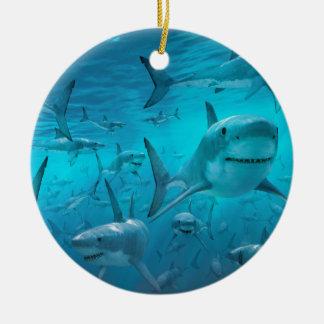 Sharks Christmas Ornament
