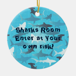 sharks! christmas ornament