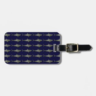 Sharks cool pattern luggage tag