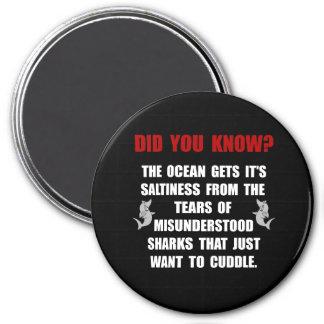 Sharks Cuddle 7.5 Cm Round Magnet