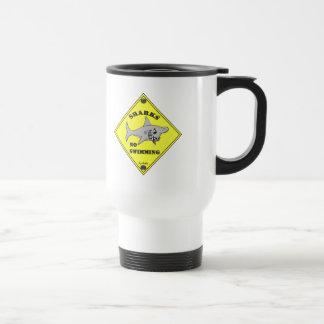Sharks No Swimming! Stainless Steel Travel Mug