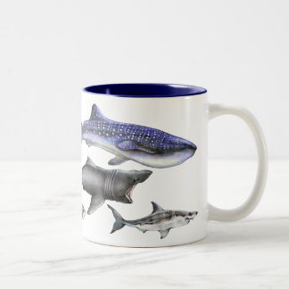 Sharks of the World Two-Tone Coffee Mug