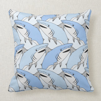 Sharks Pattern throw pillows