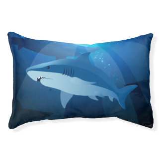 Sharks swimming pet bed