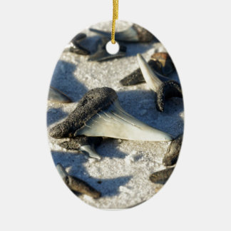 Sharks Teeth from Jax Beach Christmas Ornament