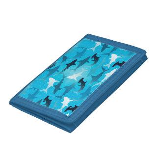 sharks! tri-fold wallet