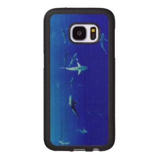 Sharks Underwater Wood Samsung Galaxy S7 Case