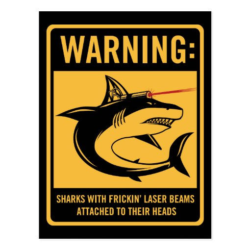 sharks with frickin laser beams attached postcards