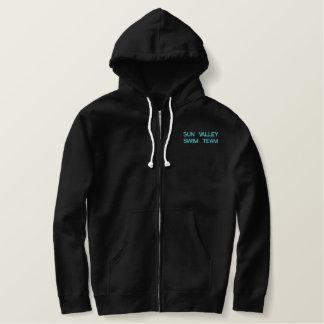 Sharks Zip-Up Embroidered Hooded Sweatshirts
