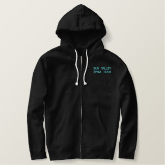 Sharks Zip-Up Embroidered Hoodie