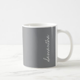 Sharkskin Gray Neutral Solid Color Personalize Coffee Mug