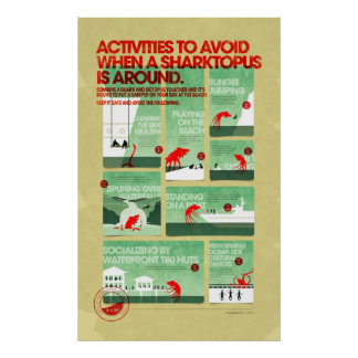 Sharktopus Safety Poster