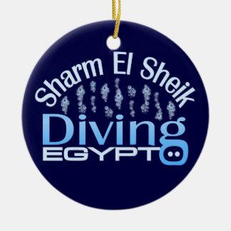 SHARM EL SHEIK ornament, customize Round Ceramic Decoration