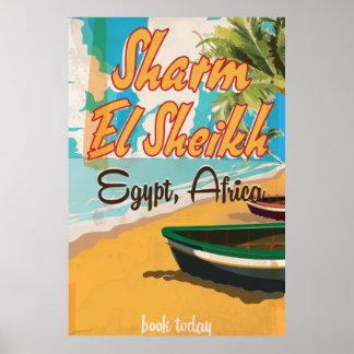 Sharm El Sheikh - Egypt vintage travel poster