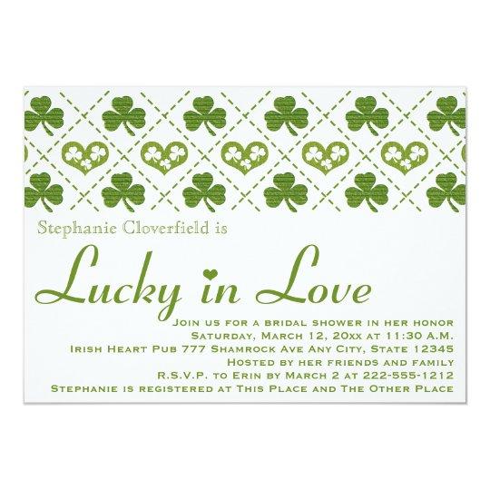 Sharmock and Hearts Bridal Shower Invitations